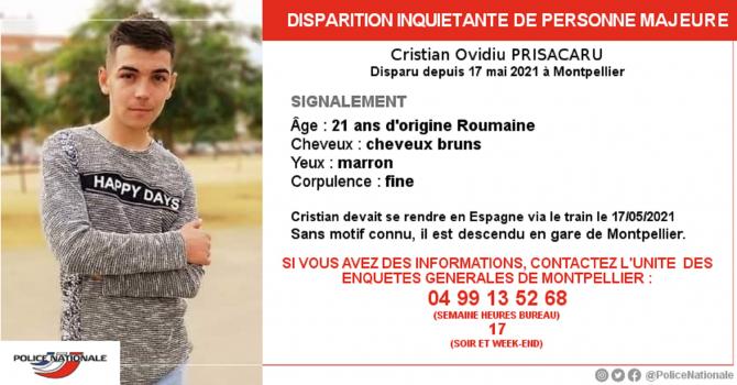 Românul dat dispărut în Franța, găsit după trei săptămâni
