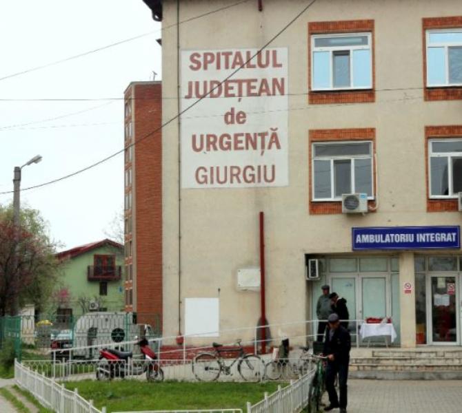 Un pacient s-a aruncat de la etajul trei al spitalului Giurgiu. Nu avea boli psihice şi nici nu a dat semne de depresie