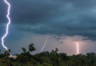 Furtună puternică în Bucureşti și împrejurimi! Rafale de peste 75 km/h și copaci căzuți