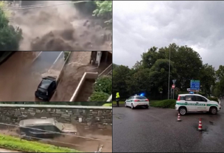 Furtuni puternice în Italia. Mai mulți locuitori, izolaţi