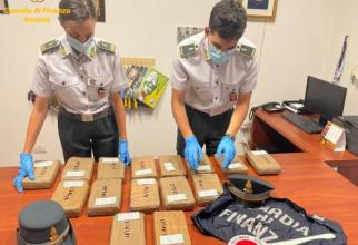 Italia. Zeci de kilograme cocaină, găsite într-o mașină. O româncă și partenerul ei ar fi câștigat două milioane de euro