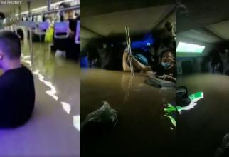 Metrou inundat în China. Pasager Apa a ajuns la glezne, apoi până la genunchi și în final până la gât