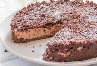 Prăjitură cu ciocolată fără coacere