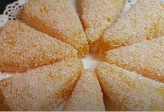 Prăjitură cu suc de portocale. Un desert super cremos din 3 ingrediente, gata în 5 minute