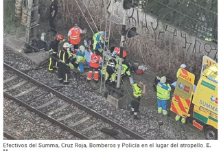 Spania. O ROMÂNCĂ se zbate între viață și moarte după ce a fost LOVITĂ de un TREN. FOTO: captură elmundo.es