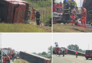 Tragedie în Croația. Zece morți într-un autobuz, care s-a răsturnat pe autostradă. Alte 46 de victime, la spital