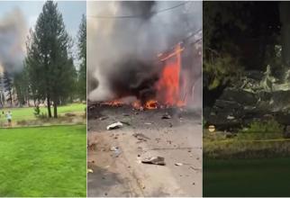 Tragedie în SUA. Mai mulți morți după ce un avion s-a prăbușit și a explodat în apropierea unui teren de golf