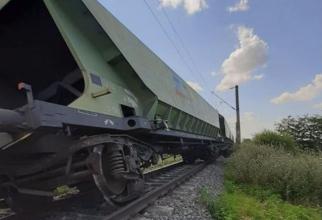 Tren de marfă, deraiat la Fetești. Circulaţia feroviară a fost întrerupta