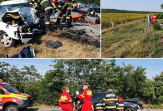 Un adult și un copil de patru ani au murit, într-un accident între două mașini în județul Bihor Sursa ISU Crisana