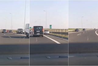 Zeci de șoferi pe contrasens, pe autostrada A2 și A4, în Constanța