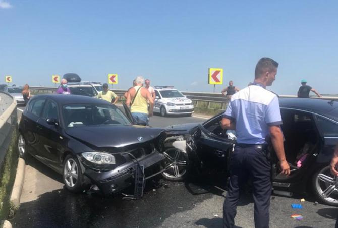 Accident cu șase victime dintre care 2 copii, la ieșirea de pe A1. FOTO: captură turnulsfatului.ro