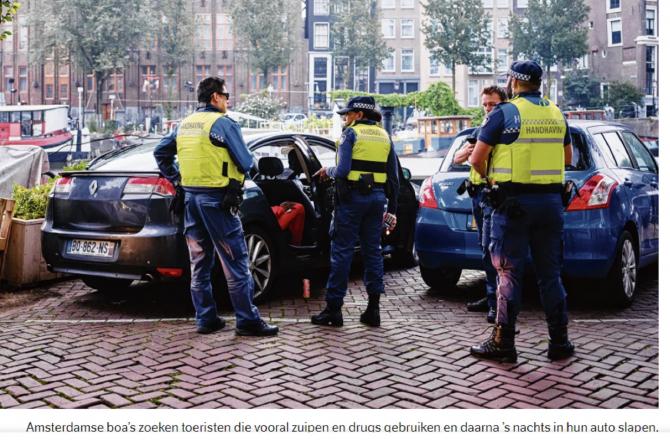 """Autoritățile din Olanda, exasperate: """"Dacă vedeți plăcuțe de înmatriculare românești, sunați la Poliție"""". FOTO: captură nrc.nl"""
