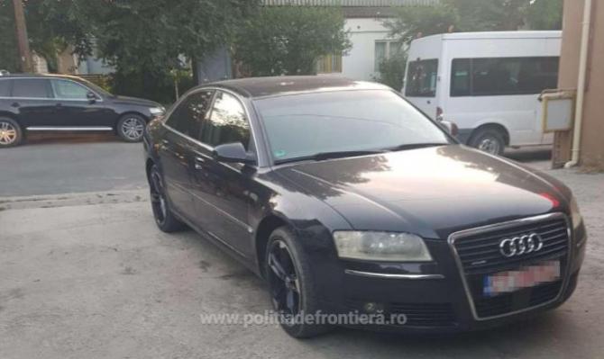 Autoturism de lux, furat din Germania, descoperit de polițiștii constănțeni. Șoferul român a rămas pieton