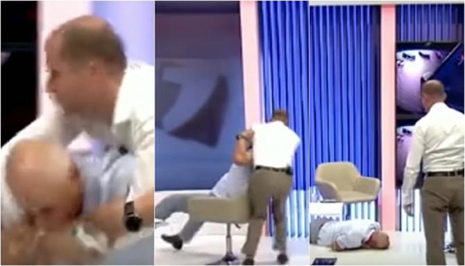 Bătaie între doi politicieni, într-un platou de televiziune. Unul dintre ei a rămas inconștient - VIDEO