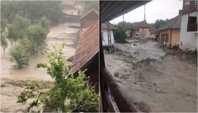 Ciclonul care a devastat Germania și Belgia a ajuns în România - VIDEO