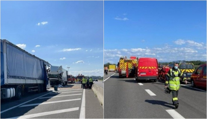 Franța. Șofer ROMÂN de TIR, MORT într-un ACCIDENT TERIBIL. FOTO: colaj capturi dna.fr