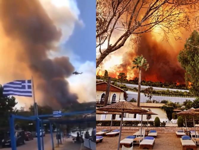 Incendii Grecia. sursa foto: Twitter