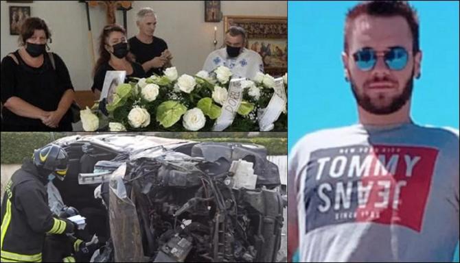 Italia. Adrian a fost condus pe ultimul drum. Durere sfâșietoare la înmormântarea tânărului român, mort într-un teribil accident