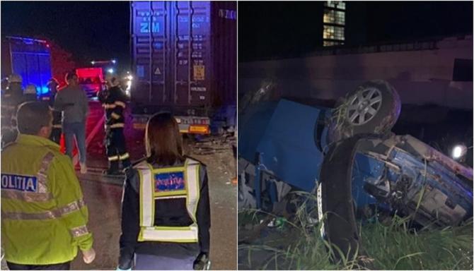 Microbuz cu români, accident grav cu un TIR 3 persoane au murit, alte 4 duse, în comă, la spital