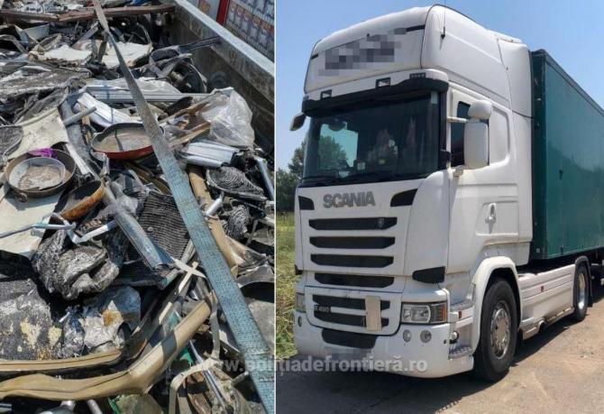 Tone de deşeuri din aluminiu, încărcate din Italia, oprite în vama Giurgiu