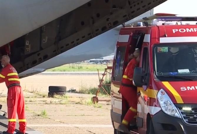 Trei dintre românii răniții grav în explozia de la Popești-Leordeni, transferați cu un avion MApN în Germania