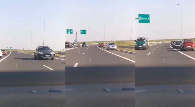 Val de șoferi români filmați cum conduc pe contrasens pe Autostrada Soarelui