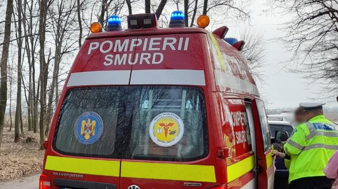 Accident cu două TIR-uri pe DN 72: Un șofer român, încarcerat şi inconştient