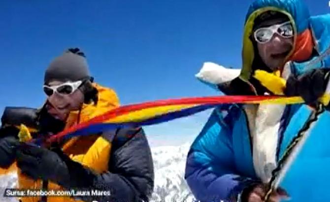 Alpinista Laura Mareș a dus tricolorul la peste 8.000 de metri înălțime