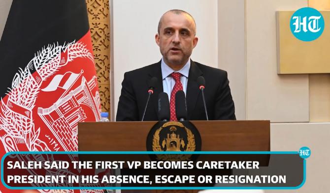 Amrullah Saleh pregăteşte o ofensivă contra talibanilor. FOTO: captură video YouTube @Hindustan Times
