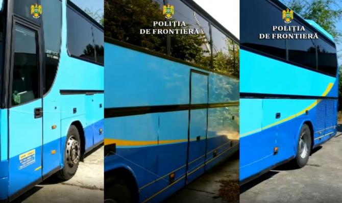 Autocar, căutat de autorități din Italia, descoperit la vama Oancea. Șoferul a declarat că este angajatul firmei de transport