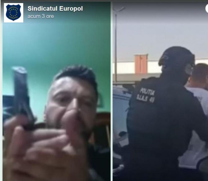 Bărbatul din Dâmbovița care a amenințat polițiștii pe Facebook, cu un pistol în mână, arestat preventiv
