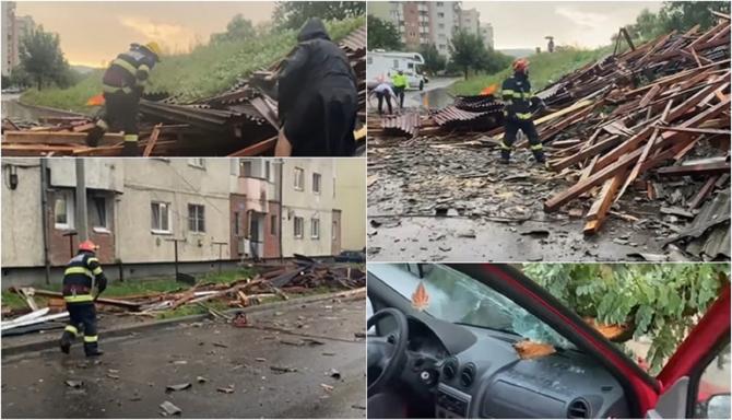 Codul portocaliu de vijelii face ravagii în România O fetiță de 6 ani a murit strivită de un copac, casele au rămas fără acoperișuri