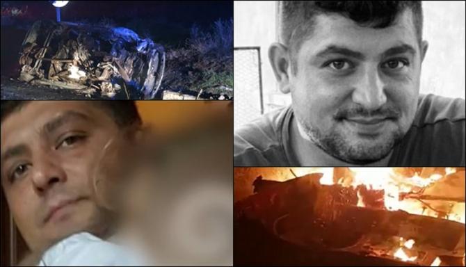 El este șoferul român ars în mașină. Tocmai se întorsese acasă după mai mulţi ani de muncă în străinătate. O fetiță a rămas orfană