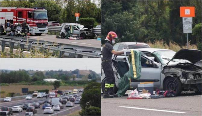 Italia. Accident teribil pe A4. Un român a murit pe loc. FOTO: colaj capturi bresciaoggi.it, ilgiorno.it