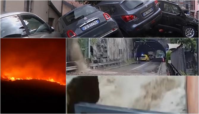 Italia, lovită de dublă ameninţare: Ploi puternice şi risc de inundaţii în nord, caniculă şi incendii în sud