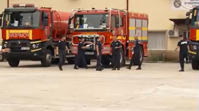 """Pompierii români pleacă în Grecia. Comandantul misiunii: """"Plecăm 108, vrem să ne întoarcem 108"""""""