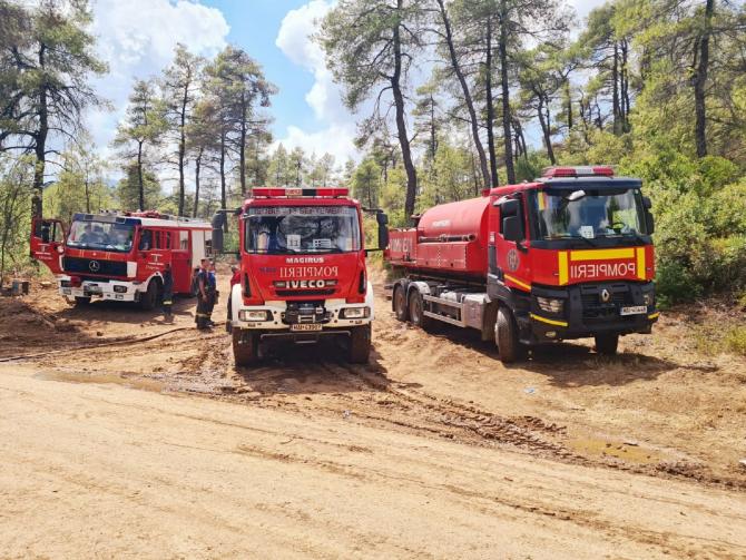 Pompierii români trimiși în Grecia se întorc acasă, după ce incendiile au fost lichidate