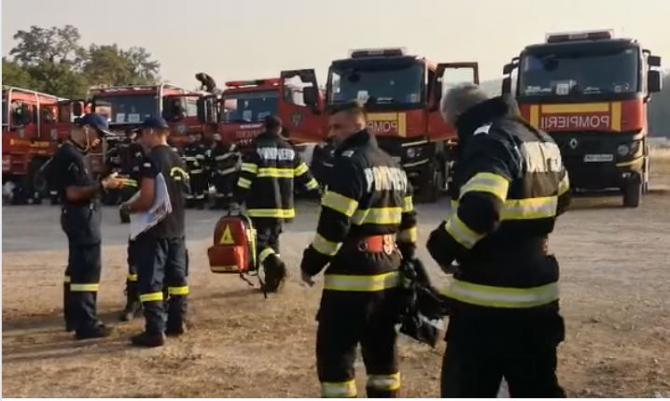 A treia zi a intervenției pompierilor români pentru stingerea incendiilor din insula Evia