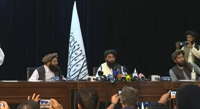 """Prima conferinţă de presă a talibanilor: """"Nu mai vrem conflicte"""""""