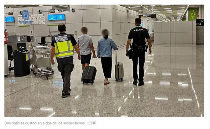 ROMÂNI, SĂLTAȚI direct de pe AEROPORT la sosirea în SPANIA. FOTO: captură diariodemallorca.es