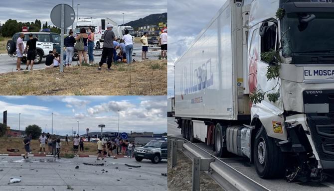 """Spania. Mai mulți români au imobilizat un șofer de TIR care a ucis un om """"Stop! Trage-i cupla!"""" - VIDEO"""