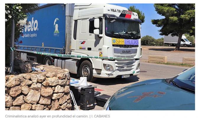 Spania. Șofer ROMÂN de TIR, găsit MORT în cabina camionului: Dănuț a fost găsit întins pe pat, fără viață, de un coleg . FOTO: captură levante-emv.com