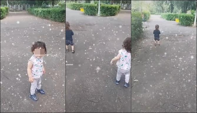Ultimele imagini în viață cu gemenii din Ploiești. Micuții erau filmați în parc de către Andreea - VIDEO