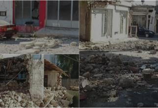 Grecia, zguduită de o rafală de cutremure puternice. Persoane prinse sub dărâmături - FOTO