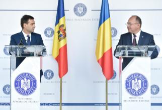 Ministrul afacerilor externe, Bogdan Aurescu și ministrul afacerilor externe al Republicii Moldova, Nicolae Popescu