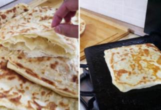 Pâine marocană, gătită în tigaie. O rețetă super rapidă șu ușoară. Doar 100 de calorii pentru o felie