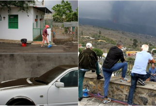 """Spania. ROMÂNI, prinși în INFERNUL din La Palma: """"Vizitatorii au BLOCAT totul. Ce se întâmplă dacă ne evacuează și trebuie să plecăm repede?"""" . FOTO: capturi publico.es"""