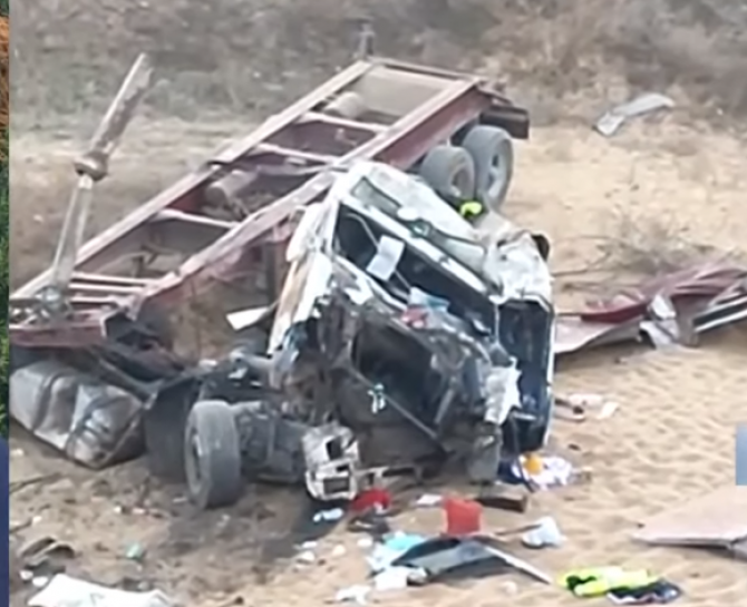 accident rutier camion agigea