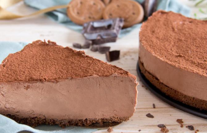 Cheesecake cu ciocolată fără coacere