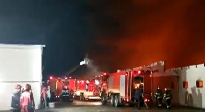 Fabrică de pâine din Constanța, făcută scrum de un incendiu violent. Cauza probabilă a focului, un trăsnet